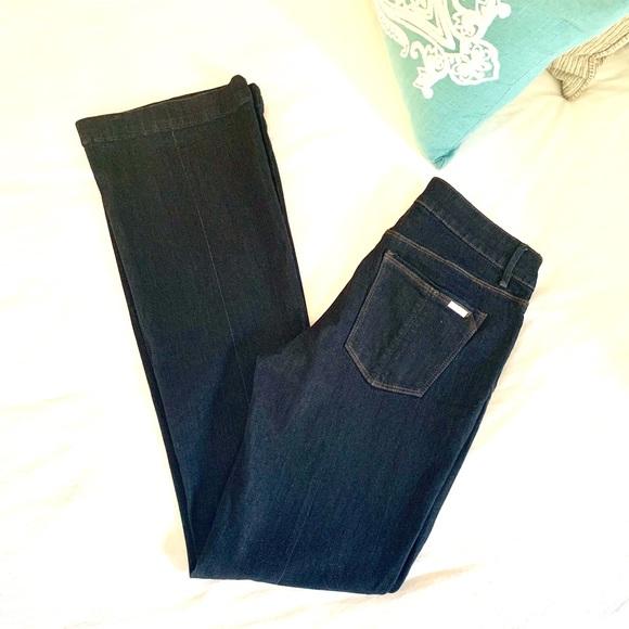 White House Black Market Denim - WHBM Skinny Flare Dark Denim Jeans Sz 6
